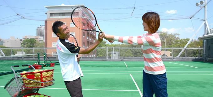 テニス初心者の打ち方練習